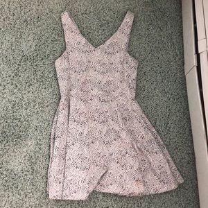 BCBG gray floral dress